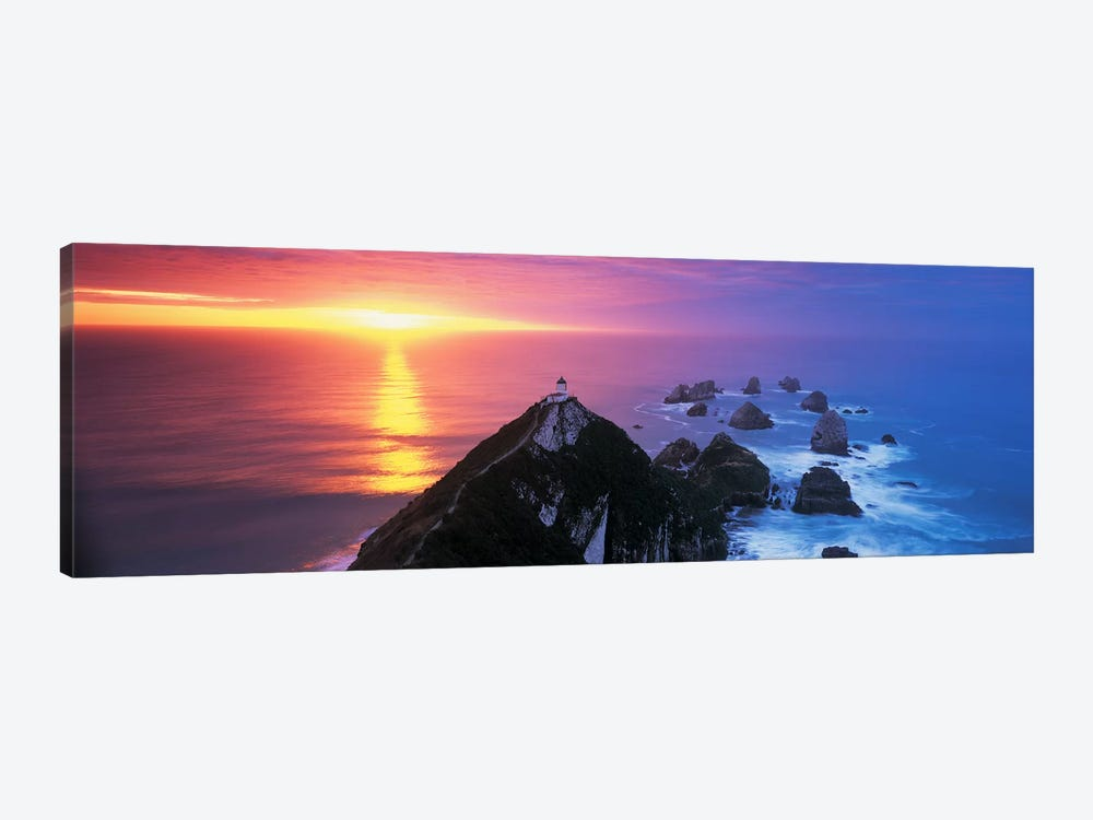 SunsetNugget Point Lighthouse, South Island, New Zealand by Panoramic Images 1-piece Canvas Print