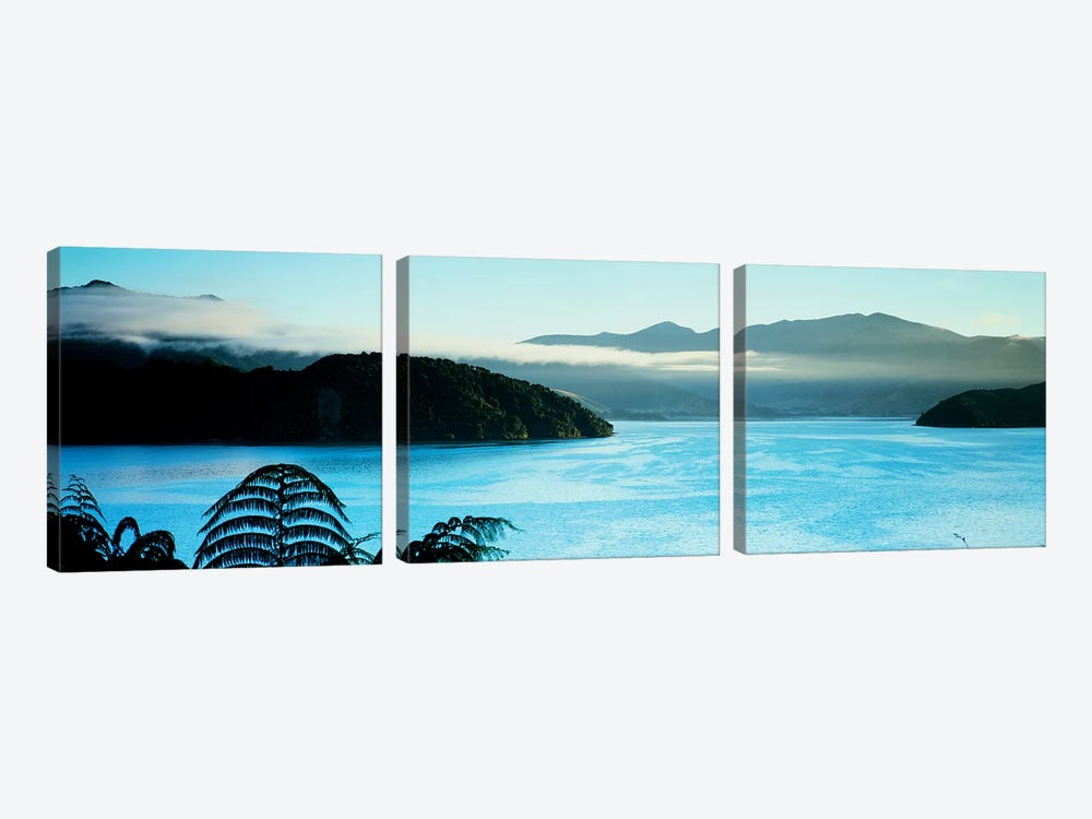Kenepuru Sound, Marlborough Sounds, South Island, New Zealand by Panoramic Images 3-piece Canvas Wall Art