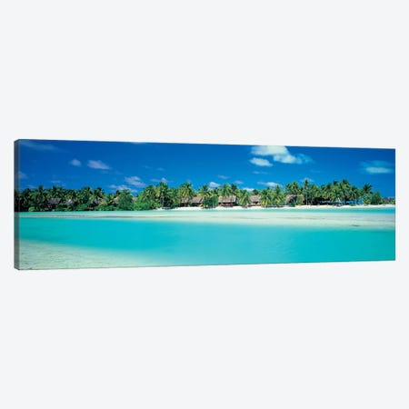Tropical Landscape, Aitutaki, Cook Islands Canvas Print #PIM4312} by Panoramic Images Canvas Print