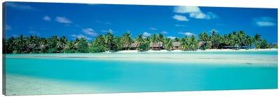 Tropical Landscape, Aitutaki, Cook Islands Canvas Print #PIM4312