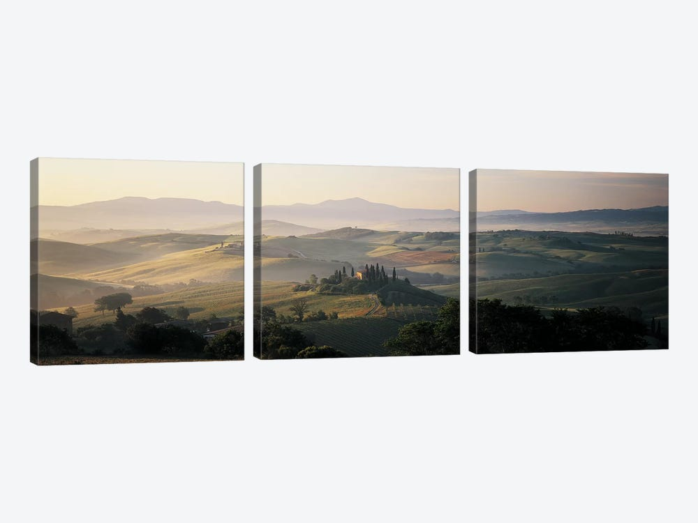 Farm Tuscany Italy 3-piece Canvas Art Print