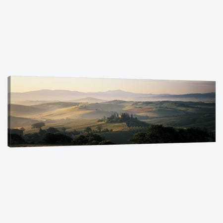 Farm Tuscany Italy Canvas Print #PIM4314} by Panoramic Images Canvas Wall Art