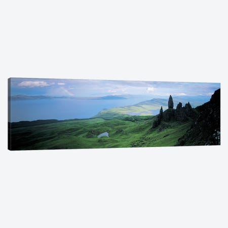 Coastal Highland Landscape Near The Sound Of Raasay, Scotland, United Kingdom Canvas Print #PIM4317} by Panoramic Images Canvas Art