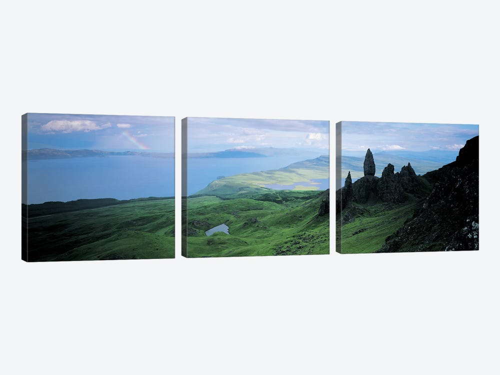 Coastal Highland Landscape Near The Sound Of Raasay, Scotland, United Kingdom by Panoramic Images 3-piece Canvas Wall Art