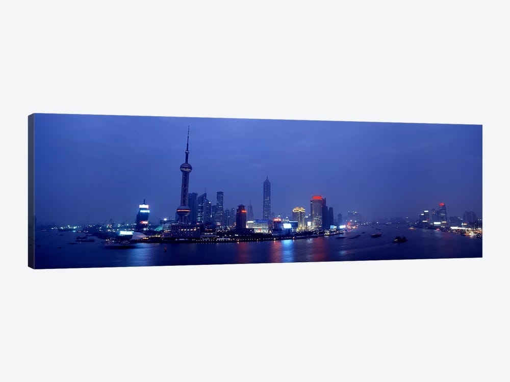 Skyline At Dusk, Lujiazui, Pudong, Shanghai, China by Panoramic Images 1-piece Canvas Print