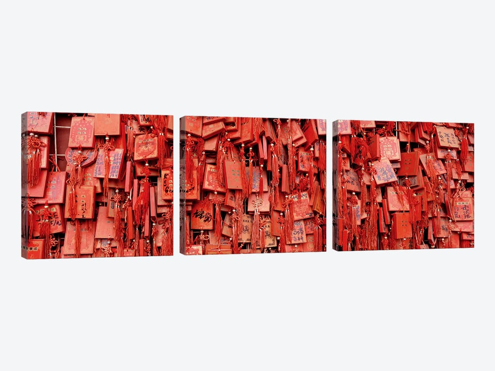 Prayer offerings at a templeDai Temple, TaiÕan, China by Panoramic Images 3-piece Canvas Artwork