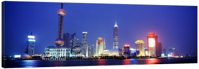 Skyline At Dusk, Lujiazui, Pudong District, Shanghai, People's Republic Of China Canvas Print #PIM4320
