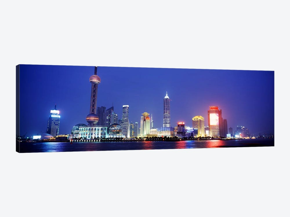 Skyline At Dusk, Lujiazui, Pudong District, Shanghai, People's Republic Of China by Panoramic Images 1-piece Canvas Art