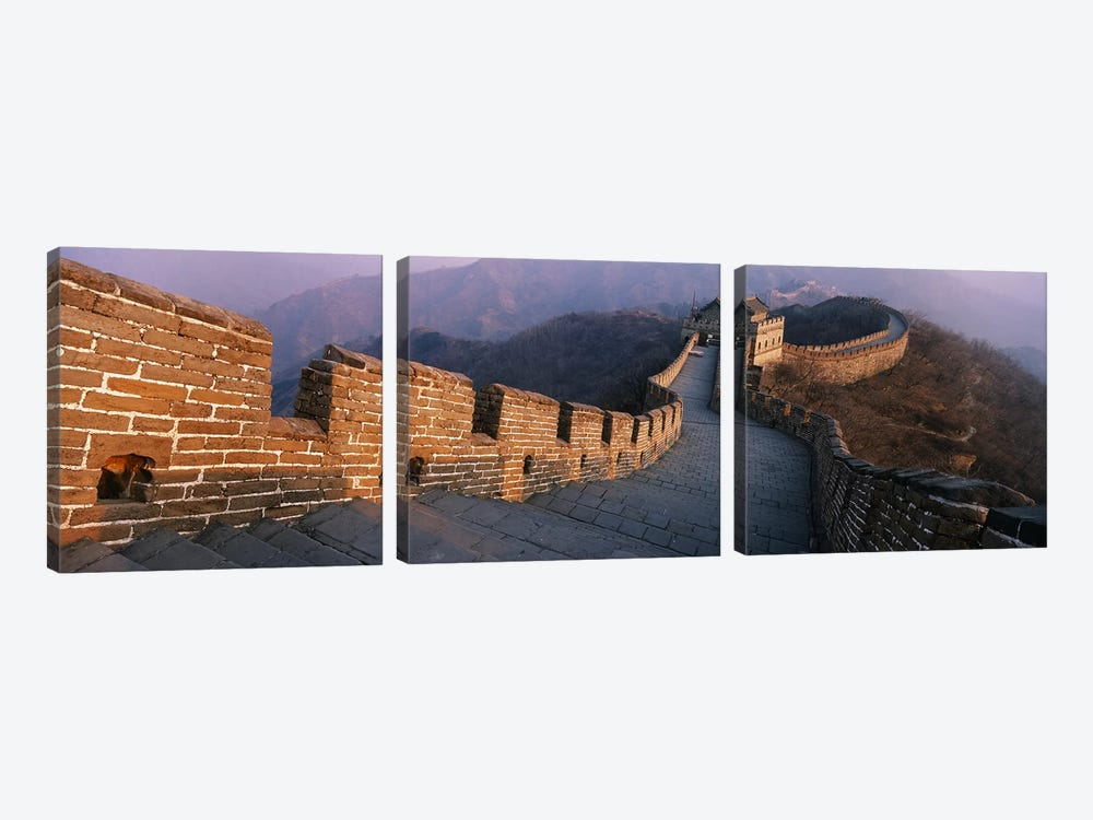 Mutianyu Section, Great Wall Of China, People's Republic Of China by Panoramic Images 3-piece Canvas Art