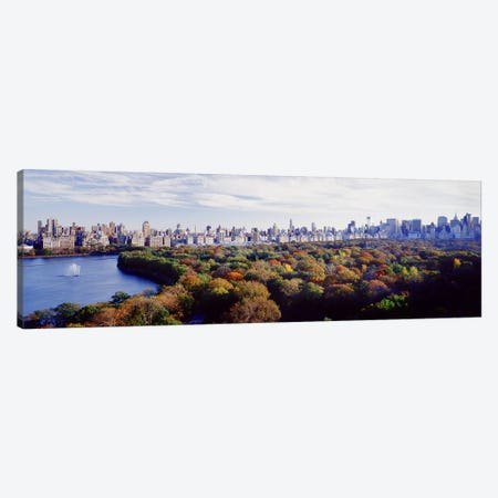 Buildings in a cityCentral Park, Manhattan, New York City, New York State, USA Canvas Print #PIM4329} by Panoramic Images Canvas Artwork