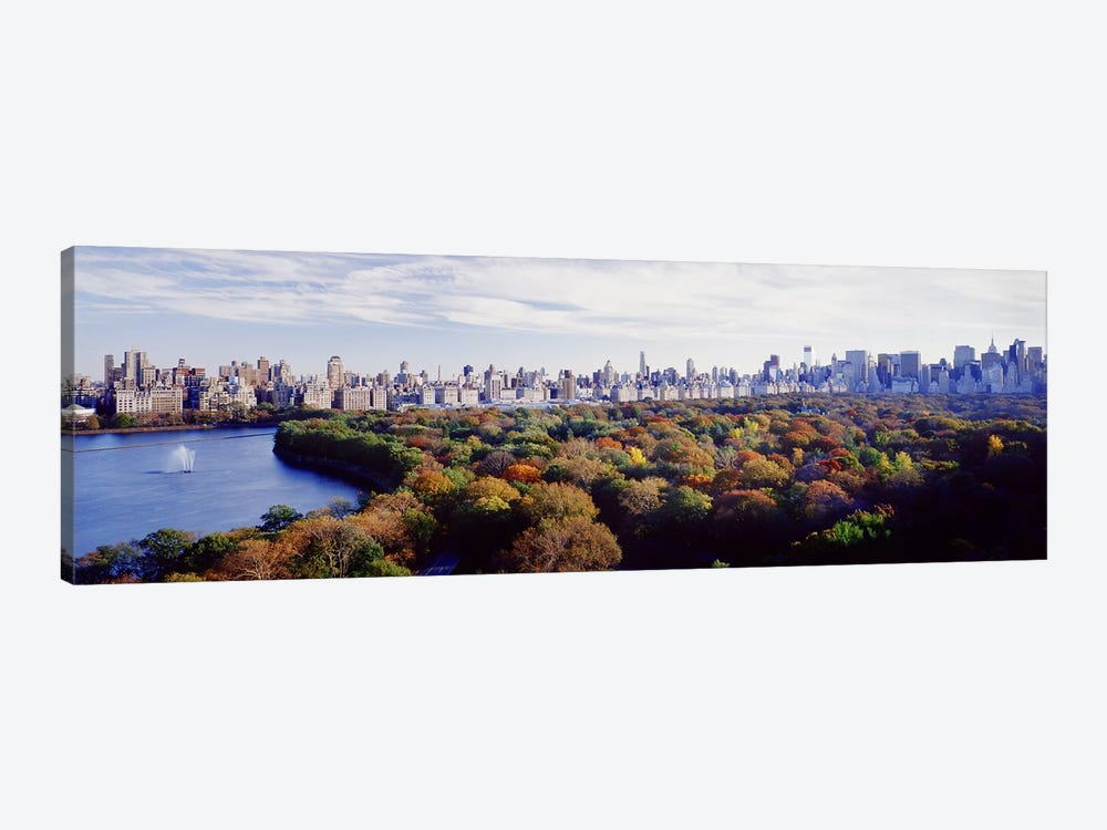 Buildings in a cityCentral Park, Manhattan, New York City, New York State, USA by Panoramic Images 1-piece Canvas Print