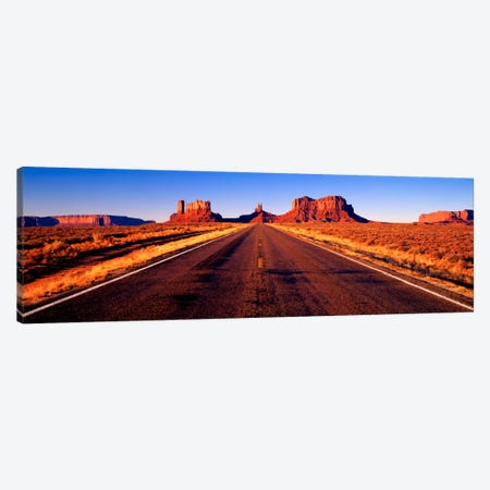 View From U.S. Route 163, Monument Valley, Navajo Nation, Arizona, USA Canvas Print #PIM432} by Panoramic Images Art Print