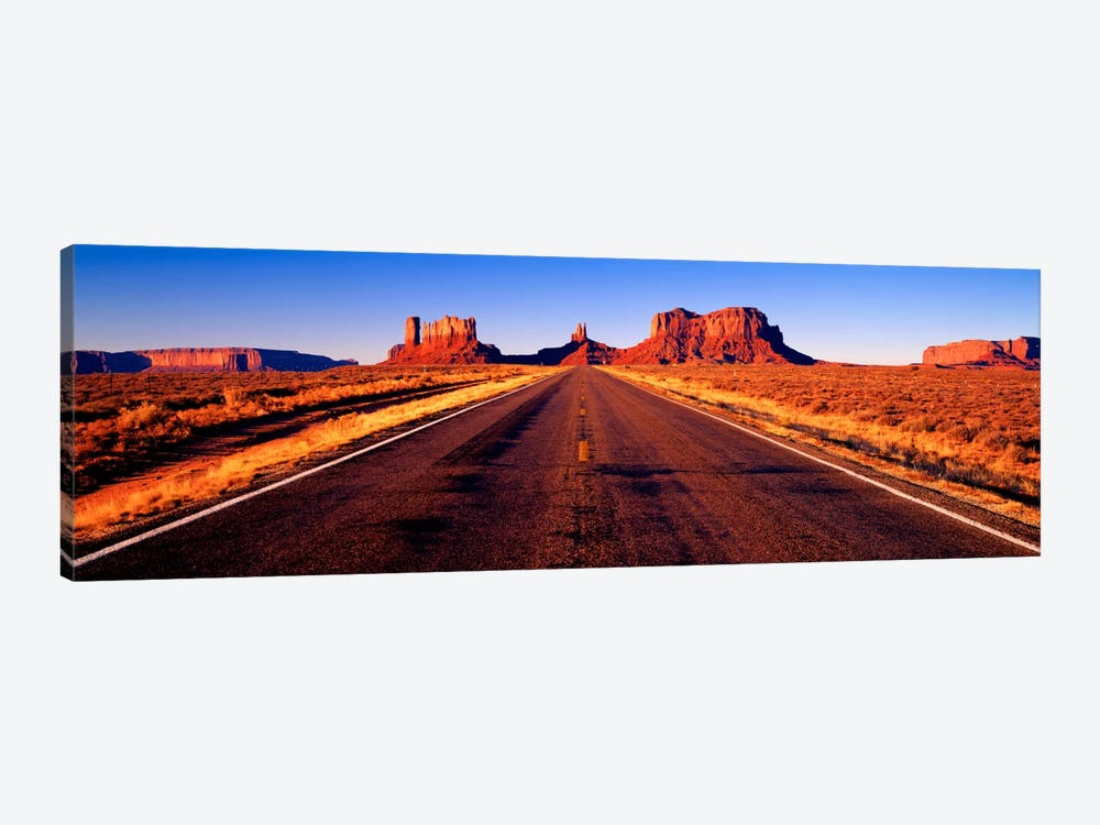View From U.S. Route 163, Monument Valley, Navajo Nation, Arizona, USA by Panoramic Images 1-piece Canvas Artwork