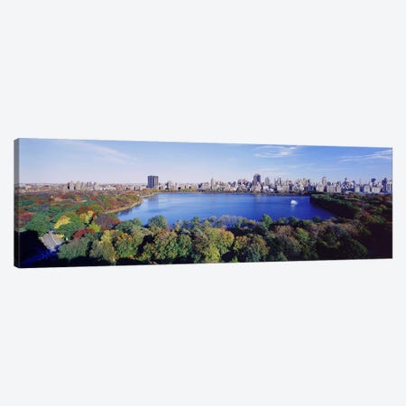 Buildings in a cityCentral Park, Manhattan, New York City, New York State, USA Canvas Print #PIM4331} by Panoramic Images Canvas Art Print