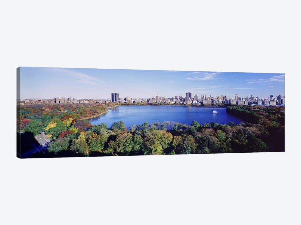 Buildings in a cityCentral Park, Manhattan, New York City, New York State, USA by Panoramic Images 1-piece Canvas Art