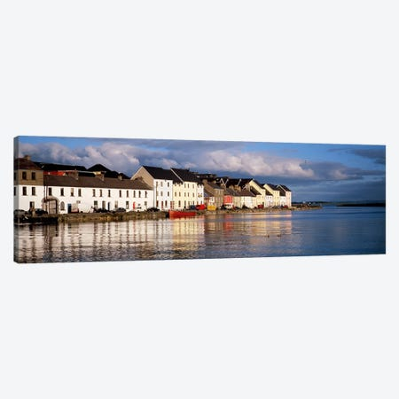 Waterfront Property, Ballyknow Quay, Galway, County Galway. Connacht Province, Republic Of Ireland Canvas Print #PIM4333} by Panoramic Images Art Print