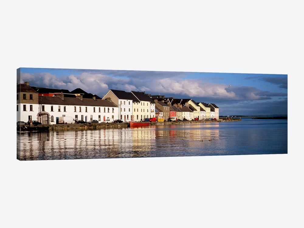 Waterfront Property, Ballyknow Quay, Galway, County Galway. Connacht Province, Republic Of Ireland by Panoramic Images 1-piece Canvas Wall Art