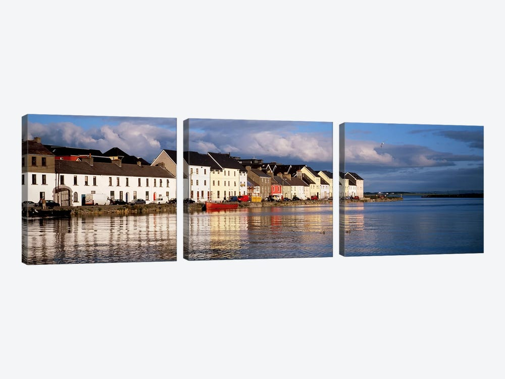 Waterfront Property, Ballyknow Quay, Galway, County Galway. Connacht Province, Republic Of Ireland by Panoramic Images 3-piece Canvas Art