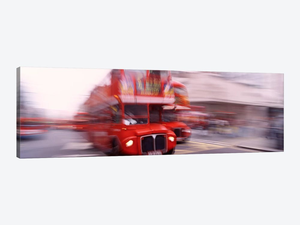 Double Decker Motion Blur, London, England, United Kingdom by Panoramic Images 1-piece Canvas Artwork
