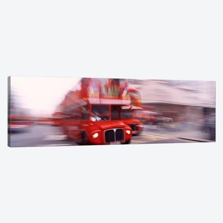 Double Decker Motion Blur, London, England, United Kingdom Canvas Print #PIM4335} by Panoramic Images Canvas Art