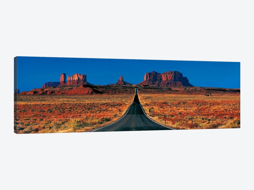 U.S. Route 163 View, Monument Valley, Navajo Nation, Arizona, USA by Panoramic Images 1-piece Canvas Art Print