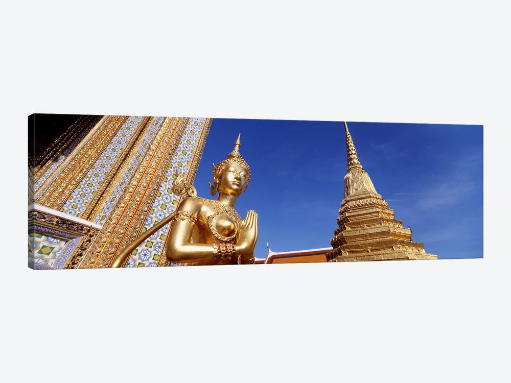 Low angle view of a statueWat Phra Kaeo, Grand Palace, Bangkok, Thailand by Panoramic Images 1-piece Canvas Print