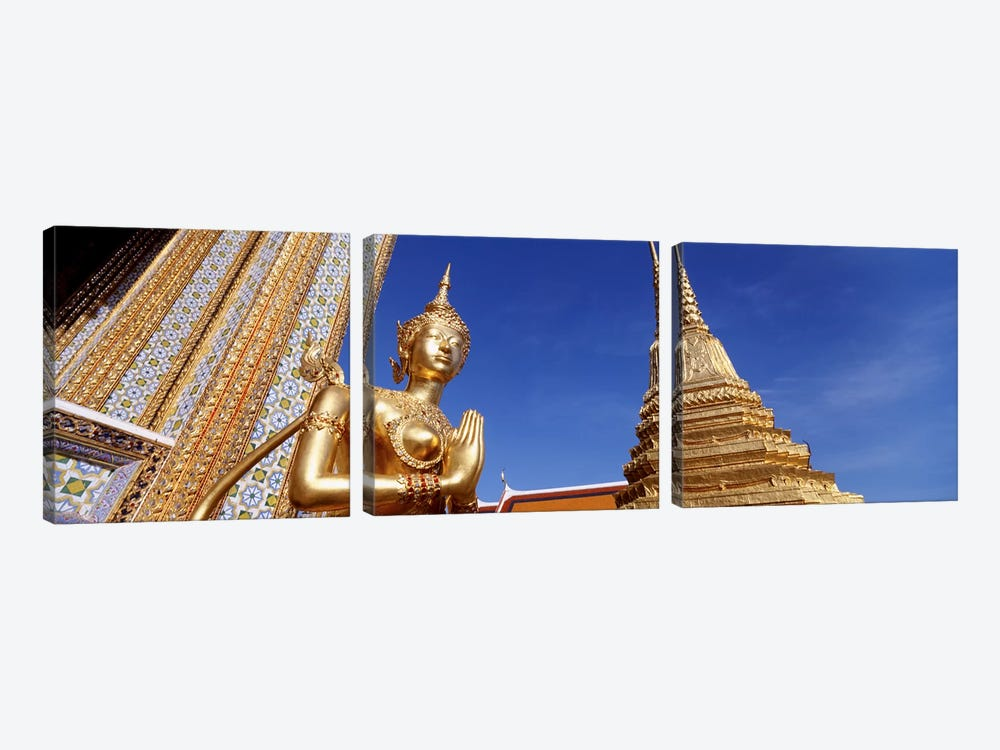 Low angle view of a statueWat Phra Kaeo, Grand Palace, Bangkok, Thailand by Panoramic Images 3-piece Art Print