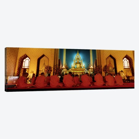 MonksBenchamapophit Wat, Bangkok, Thailand Canvas Print #PIM4342} by Panoramic Images Canvas Wall Art