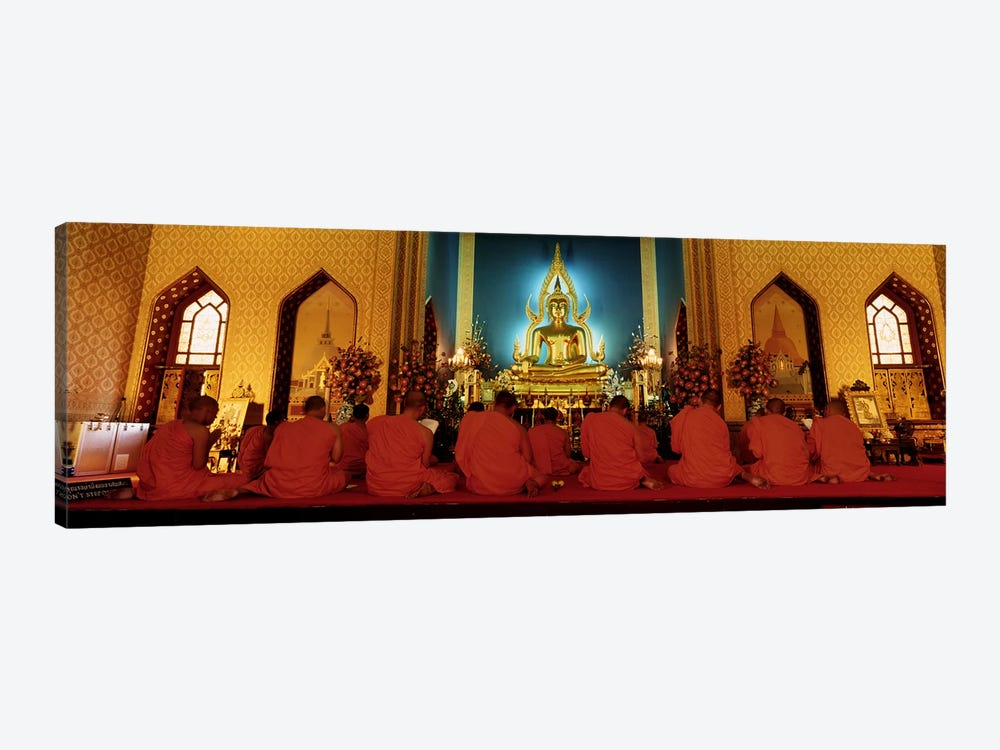 MonksBenchamapophit Wat, Bangkok, Thailand by Panoramic Images 1-piece Canvas Wall Art