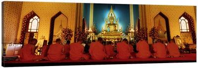 MonksBenchamapophit Wat, Bangkok, Thailand Canvas Art Print