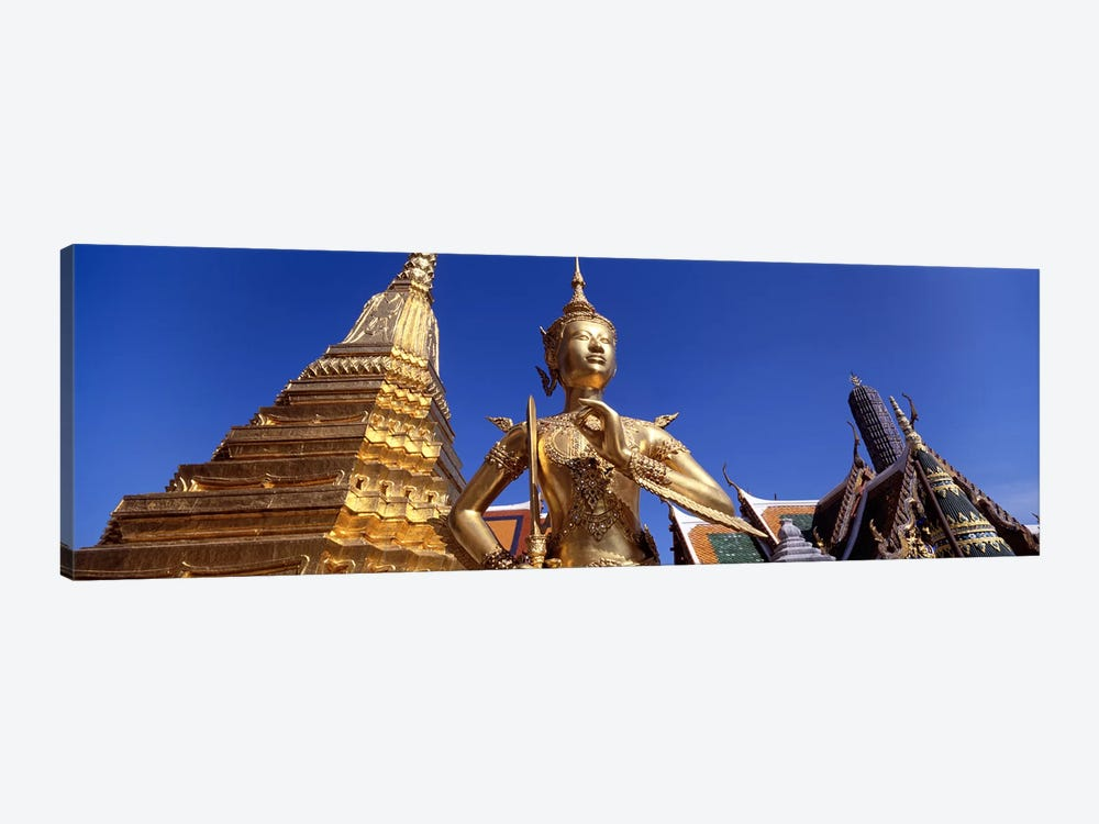Low angle view of a statueWat Phra Kaeo, Grand Palace, Bangkok, Thailand by Panoramic Images 1-piece Art Print