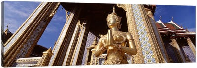Low angle view of a statueWat Phra Kaeo, Grand Palace, Bangkok, Thailand Canvas Art Print