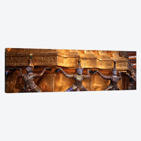 Close-up of statues in a templeGrand palace, Bangkok, Thailand Canvas Print #PIM4345} by Panoramic Images Art Print