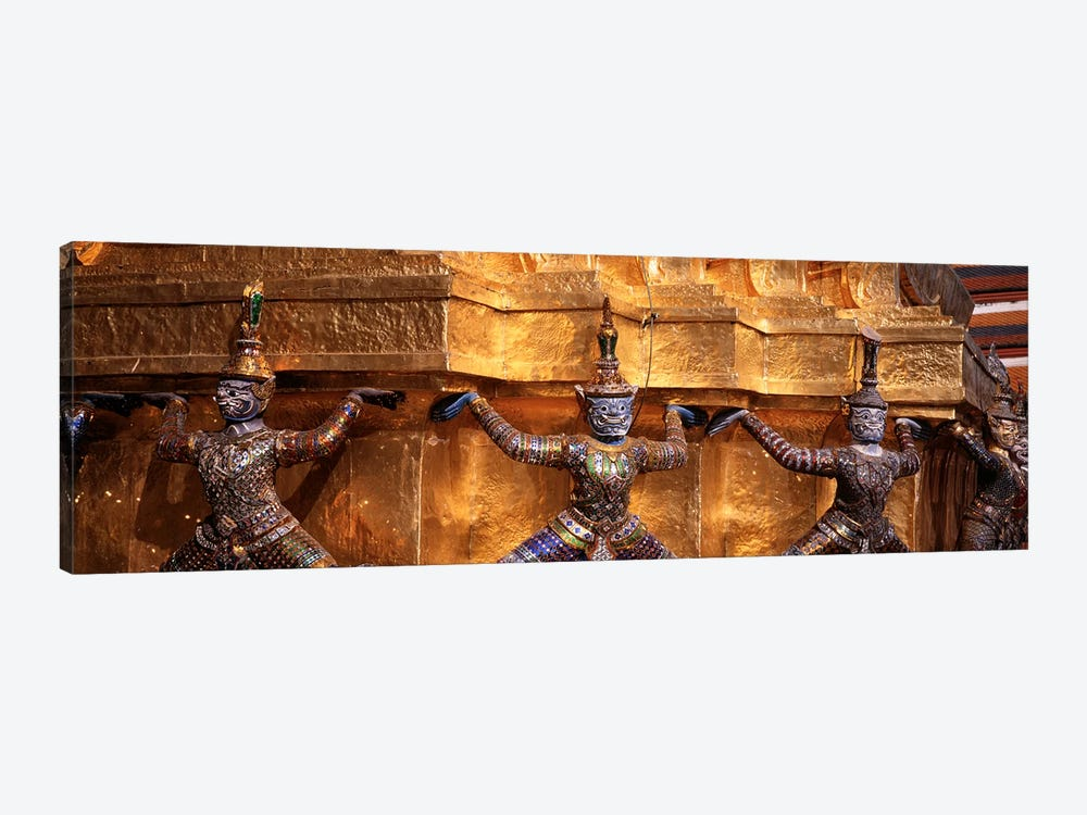 Close-up of statues in a templeGrand palace, Bangkok, Thailand by Panoramic Images 1-piece Canvas Print