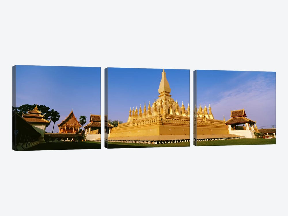 Pha That Luang TempleVientiane, Laos by Panoramic Images 3-piece Art Print
