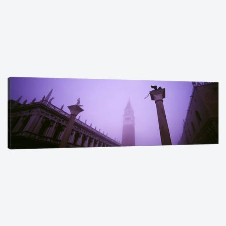 Foggy View Of Campanile di San Marco, St. Mark's Square, Venice, Italy Canvas Print #PIM4365} by Panoramic Images Canvas Print