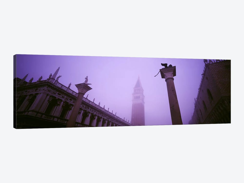 Foggy View Of Campanile di San Marco, St. Mark's Square, Venice, Italy by Panoramic Images 1-piece Canvas Art Print