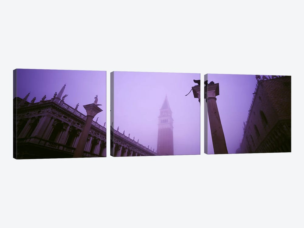 Foggy View Of Campanile di San Marco, St. Mark's Square, Venice, Italy by Panoramic Images 3-piece Canvas Art Print