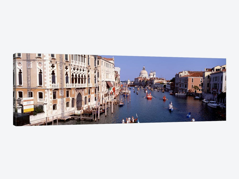Daily Gondola Activity On The Grand Canal, Venice, Italy by Panoramic Images 1-piece Canvas Artwork