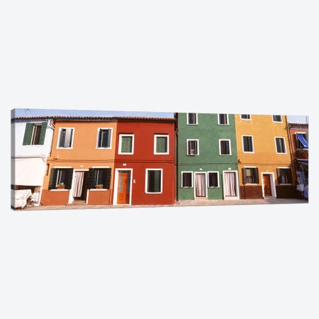 Richly Colored Buildings, Burano, Venetian Lagoon, Italy Canvas Print #PIM4369} by Panoramic Images Canvas Art
