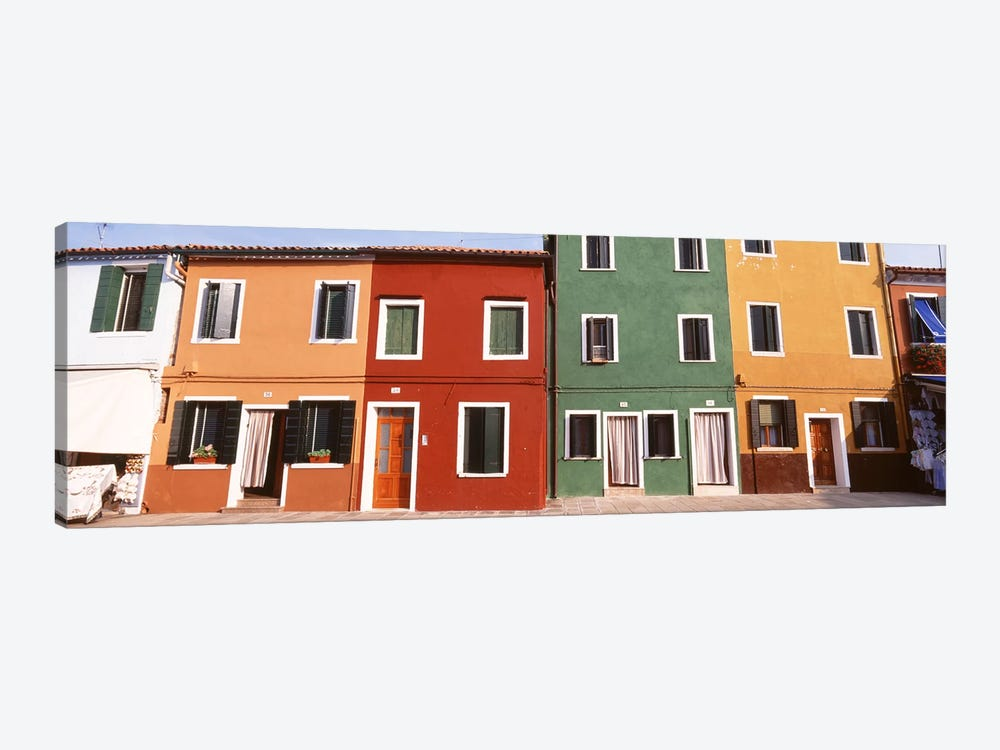 Richly Colored Buildings, Burano, Venetian Lagoon, Italy by Panoramic Images 1-piece Art Print