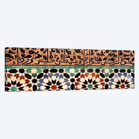 Close-up of design on a wall, Ben Youssef Medrassa, Marrakesh, Morocco Canvas Print #PIM4380} by Panoramic Images Canvas Artwork
