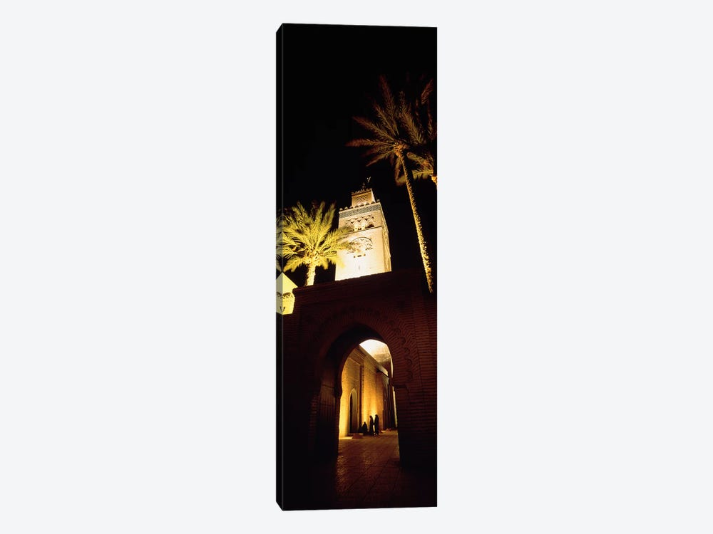 Low angle view of a mosque lit up at night, Koutoubia Mosque, Marrakesh, Morocco by Panoramic Images 1-piece Art Print