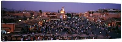 Jamaa el Fna At Night, Marrakech, Morocco Canvas Art Print