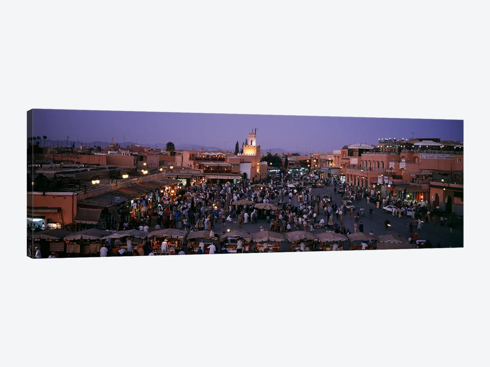Jamaa el Fna At Night, Marrakech, Morocco by Panoramic Images 1-piece Canvas Artwork