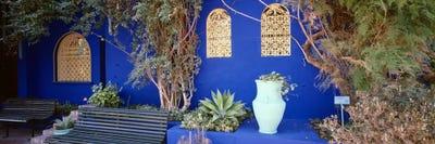 Majorelle Blue Colored Walls Jardin Majorelle Marrakech Mor