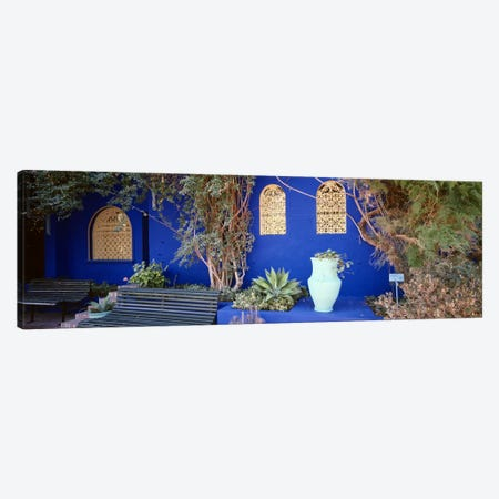 Majorelle Blue Colored Walls, Jardin Majorelle, Marrakech, Morocco Canvas Print #PIM4385} by Panoramic Images Canvas Print