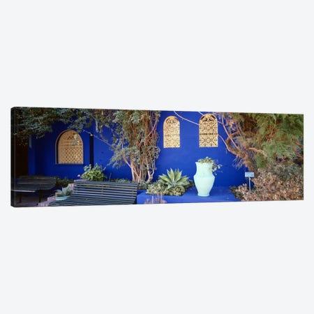 Majorelle Blue Colored Walls, Jardin Majorelle, Marrakech, Morocco Canvas Print #PIM4385} by Panoramic Images Canvas Print