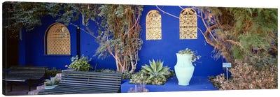 Majorelle Blue Colored Walls, Jardin Majorelle, Marrakech, Morocco Canvas Art Print