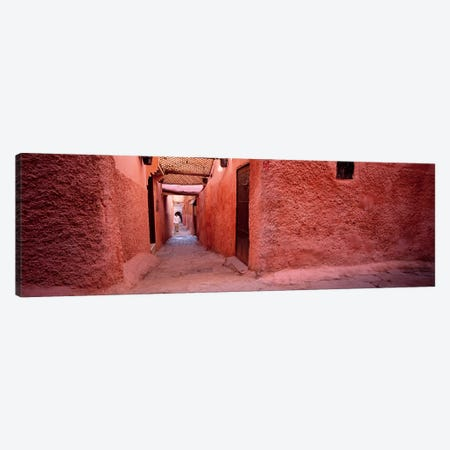 Earthen Walls Along A Lane, Medina Of Marrakech, Marrakech-Safi, Morocco Canvas Print #PIM4386} by Panoramic Images Art Print
